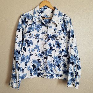 Christopher & Banks Floral Denim Jacket